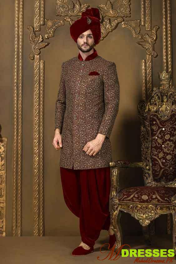 fancy sherwani style Pakistani for men