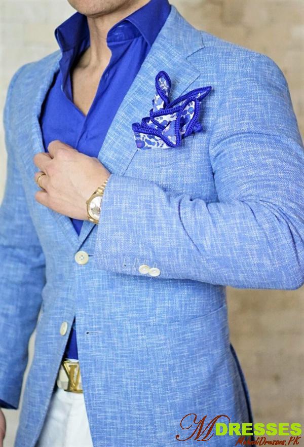 blue Coat Pant Suit Design