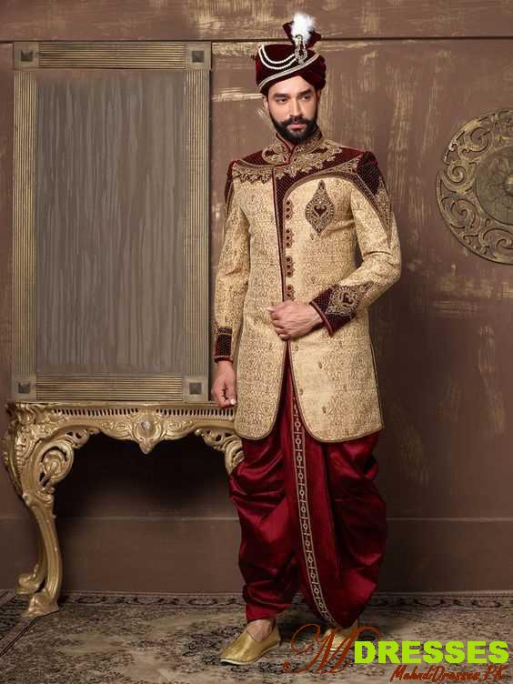 latest dhoti sherwani design marriage