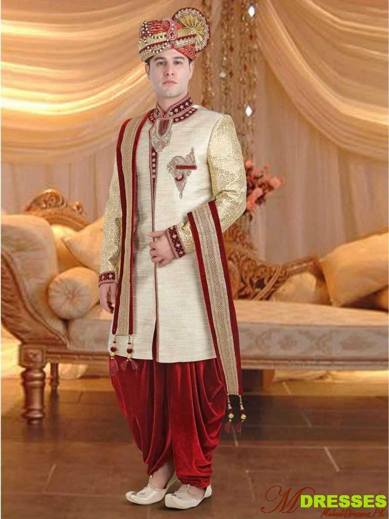 Latest dhoti Sherwani Designs in Pakistan for Men