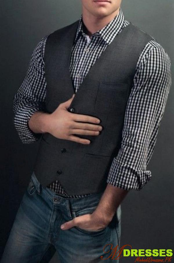 casual style vest coat for men