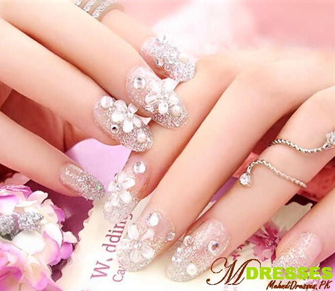 nail art on natural nails 3 flowers