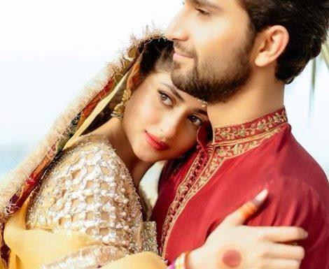 Sajal Ali and Ahad Raza Wedding Mehndi Pictures