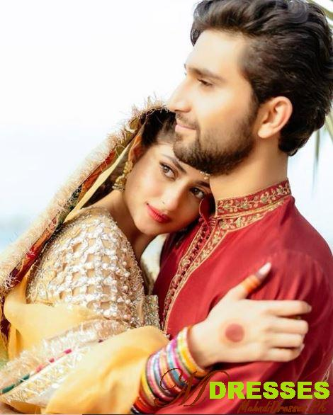 Actress Sajal Ali and Ahad Raza Wedding Mehndi Pic