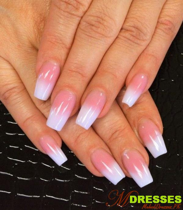 Best Nails Pink and White with Glitter Designs 2020